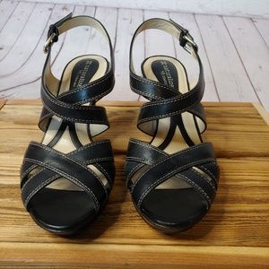 Naturalizer Black Slingback High Heel Sandals 8M
